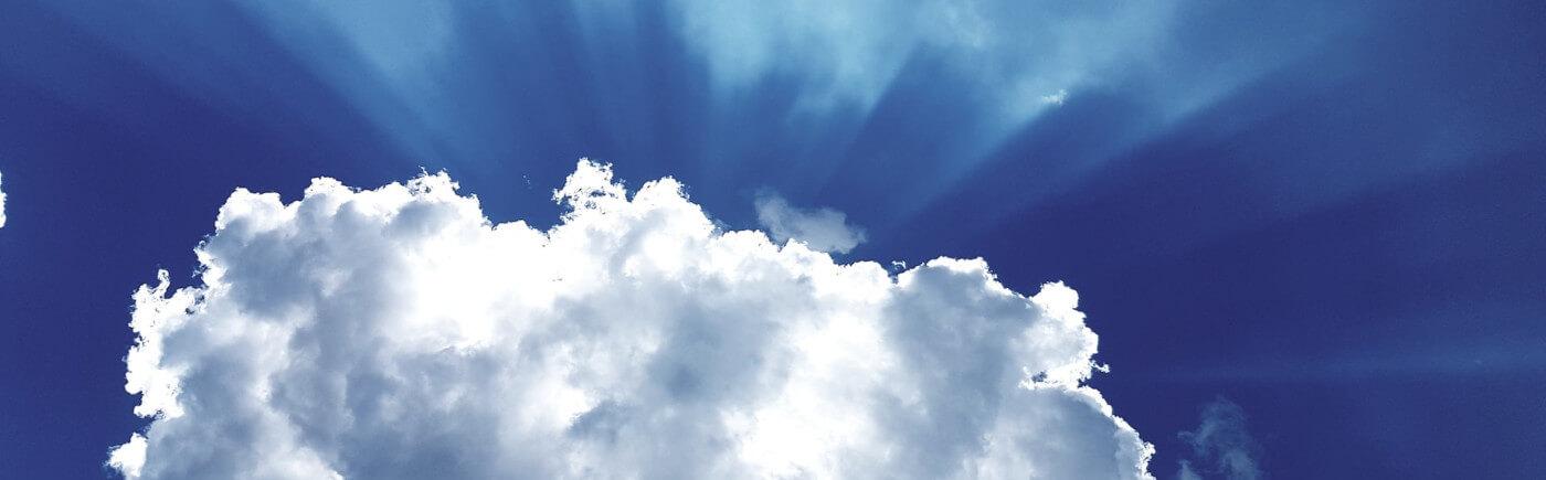Bild einer Wolke
